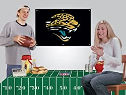 Jacksonville Jaguars Game/Tailgate Party Kits Banner &amp; Tablecloth NFL Football Fan Shop Sports Team Merchandise