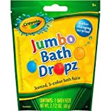 Crayola Jumbo Bath Dropz Scented, 3-color Bath Fizzie