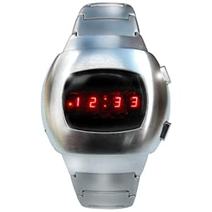 Space LED Watch - Iconic Silver Retro 70s Style Digital Watch - Limited Edition - Collectors Classic Model