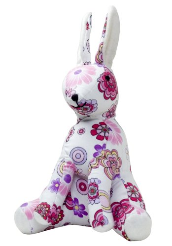 Color Zoo Rory The Rabbit Stuffed Animal in Flower Shower