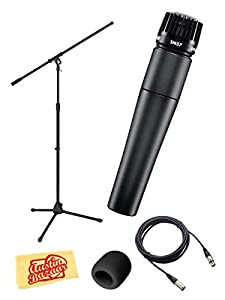 Shure SM57-LC Instrument/Vocal Microphone Bundle with Boom Stand, 20
