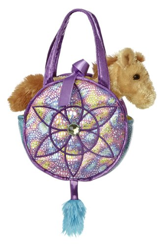 Purse Pal : Aurora World Fancy Pals Toy Pet Carrier Plush Purse, Aqua Dreams ...