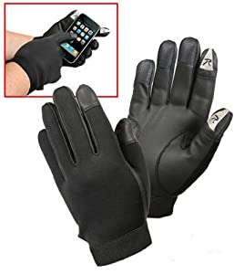 Rothco touch screen synthetic rubber duty gloves