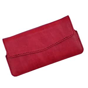 i-KitPit Quality PU Leather Pouch Case With Magnet Closure For Sony Xperia Z Ultra (RED)