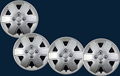 "'06-09 Ford Focus Silver Replica Hubcaps 15"" New Set"