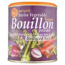 Marigold Swiss Vegetable Vegan Bouillon Powder Reduced Salt 150 g