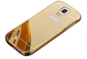 Novo Style Luxury Mirror Effect Acrylic back + Metal Bumper Case Cover for Samsung Galaxy S4 i9500 - Golden