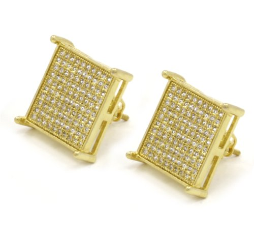 Gold Square Stud Earring  ShopStyle