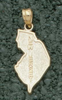 State of New Jersey Pendant - 10KT Gold Jewelry