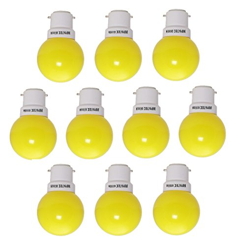 0.5W LED Bulbs (Yellow, Pack of 10)