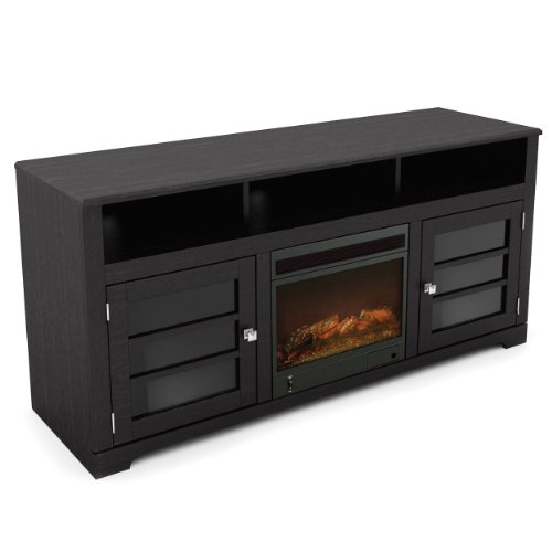 Sonax F-602-BWT West Lake 60-Inch Fireplace Bench in Mocha Ebony