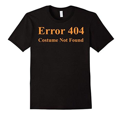 [Error 404 Costume Not Found Halloween T-Shirt - Male XL - Black] (Costume Not Found 404)
