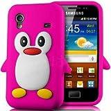 SKS Distribution® Rose Chaud Mignon Pingouin Manchot Etui Coque Housse Pour Samsung Galaxy ACE S5830