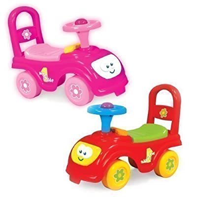 My First Ride Kids Push Along Car - Available In A Choice Of Red Or Pink