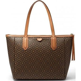 Billy the Kid Umhängetasche Shopper viele Fächer Handtasche braun Damentasche