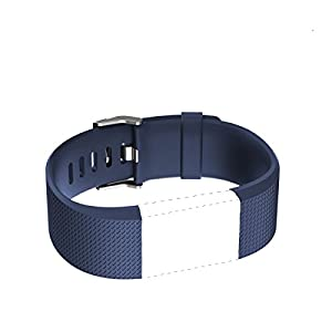 Mens and Womens Band for Fitbit Charge 2, Classic Netural Color Wrist Band, Blue, Small