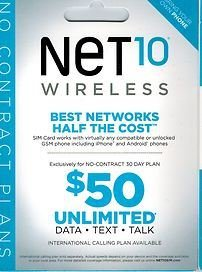 Free Net 10 Sim Card With $50 Everything Unlimited Plan For 30 Days