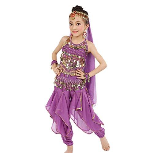 ZYQYJGF Accessori Danza Del Ventre Abbigliamento Moda Costumi Tutti Ragazza Carnevale Elegante Performance India Danza Abito Splendente 1 M