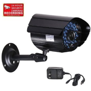 Videosecu Outdoor Infrared Audio Bullet Surveillance Security Camera 520Tvl High Resolution Built-In Microphone Day Night Ir-Cut Filter Cctv Home Surveillance With Bonus Power Supply And Security Warning Sticker C1P
