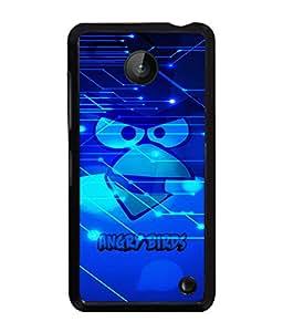 Printvisa 2D Printed Cartoon Designer back case cover for Nokia Lumia 630- D4507