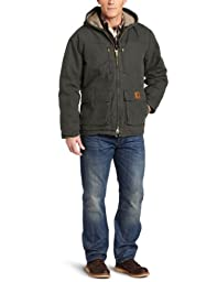 Carhartt Men\'s Jackson Coat Sherpa Lined Sandstone,Moss (Closeout),Medium