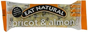 Eat Natural Almond & Apricot Bar with Yogurt Coating,1.76 Ounce Bar, 12-Count Box