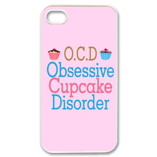 Generic In Pink And White Cupcake Design Phone Cases For Iphone 4 4S Case Durable Hard Plastic Case