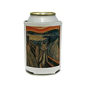 The Scream Cat Parody - Edvard Munch Can Cooler - Drink Insulator - Beverage Insulated Holder