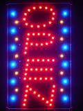 LAMPE NEON ENSEIGNE LUMINEUSE LED led110-r OPEN Vertical Bar NEW Led Neon Sign WhiteBoard