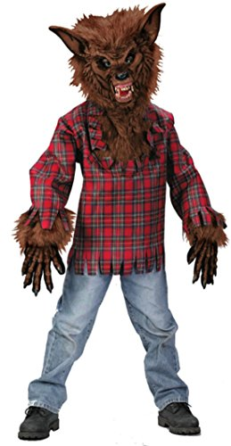 Boys Werewolf Deluxe Kids Child Fancy Dress Party Halloween Costume