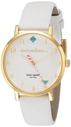 kate spade 1YRU0765 - Orologio da polso Da Donna, Pelle, colore: Bianco