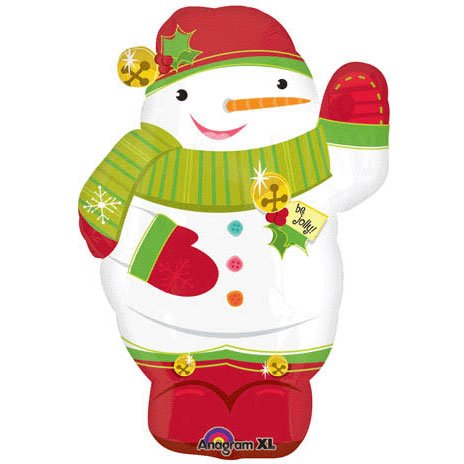 Amscan 18-inch Super Shape Jolly Snowman Balloon