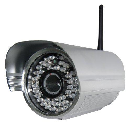Foscam FI8905W mit 6mm Linse Wetterfeste IP Kamera * FREE DDNS * MJPEG * 640x480 Pixel * 30m Nachtmodus * WIFI N mit 300MBit/s * 6mm Linse / 30° Winkel* 60 IR LEDs für bis zu 30m Nachtmodus * Für MAC / Windows / Linux / Android und IP