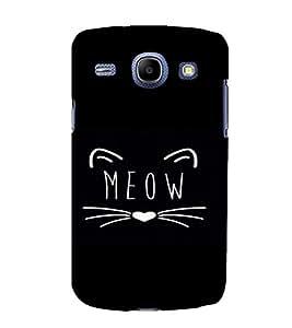 PrintVisa Meow Design 3D Hard Polycarbonate Designer Back Case Cover for Samsung Galaxy Core i8262