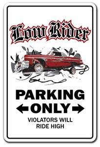 LOWRIDER Sign Decal low rider rims car parking