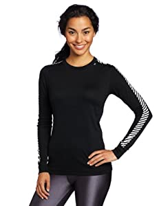 Helly Hansen Women's W HH Dry Original Long Sleeve Baselayer - Black, X-Small