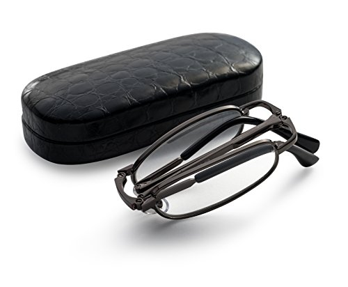 gunmetal-folding-reading-glasses-extra-clear-vision-includes-case-cleaning-cloth-and-cord-150