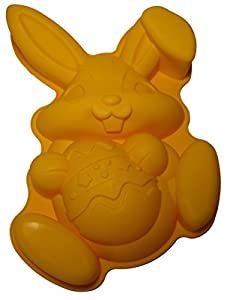 cmsHome Premium Silicone Easter Bunny Rabbit Cake Pan Mold Non-stick BPA-free
