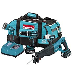 Factory-Reconditioned Makita LXT407 18V LXT 4-Piece Cordless Combo Kit LXT407R