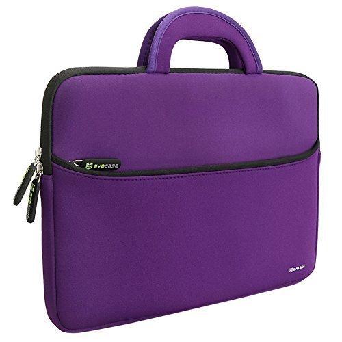 Evecase 13.3-14 Pollci Universale Neoprene Ultraportabile Sleeve Custodia per Dispositivi come MacBook Pro, Laptop, Ultrabook - Viola/Nero