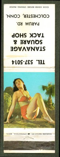 Red-Dot 2-Piece Swimsuit Pin-Up Matchcover Stanavage Ct