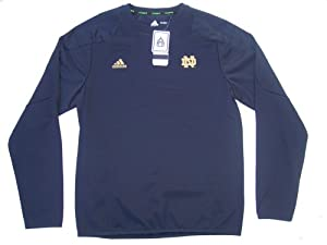 Notre Dame Fighting Irish Large Adidas ClimaWarm Long Sleeve Sideline Practice Crew... by adidas