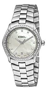 Ebel Women's 9954Q34/99450 Classic Sport Mother-Of-Pearl Dial Diamond Watch from Ebedee