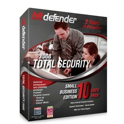 BitDefender Total Security 2008 - 2 Year/10 Pc's [Old Version]
