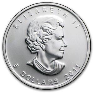 "2011 Canadian (1 oz) Silver Maple Leaf in ""Air-Tite"" Capsule"