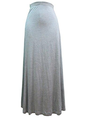Eileen Fisher Flutter Gray Jersey Maxi Skirt - XS