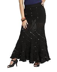 Sringar Women's Skirt (As1011_Black_40)