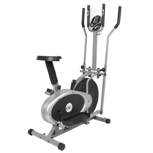 Best Choice Products® Elliptical Bike 2 in 1 Cross Trainer Exercise Fitness Machine Upgraded Model