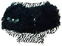 Wholesale Princess Ruffle Baby Bloomers Zebra, White, Black 0-6 Months