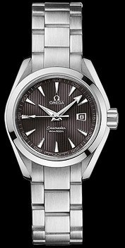 Omega Women's 231.10.30.61.06.001 Seamaster Aqua Terra Quartz Black Dial Watch